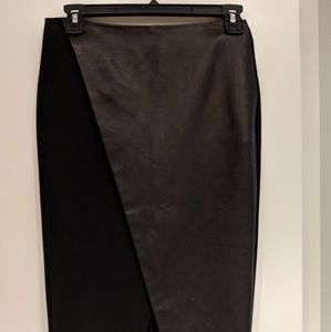 Never worn before Alice and Olivia leather skirt